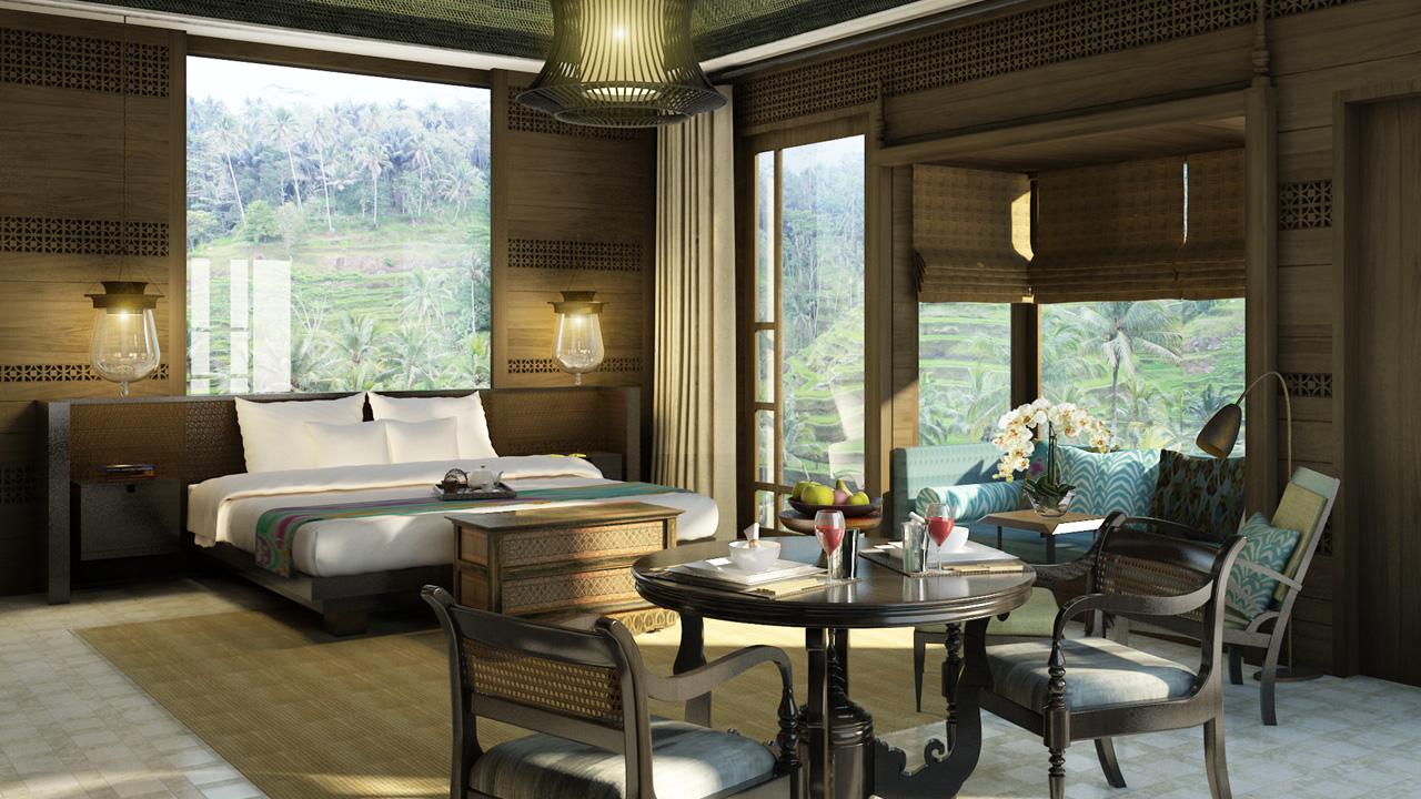 Mandapa a Ritz Carlton Reserve room interior.
