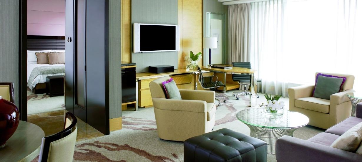 Four Seasons Hong Kong Harbor View Suite Living Room