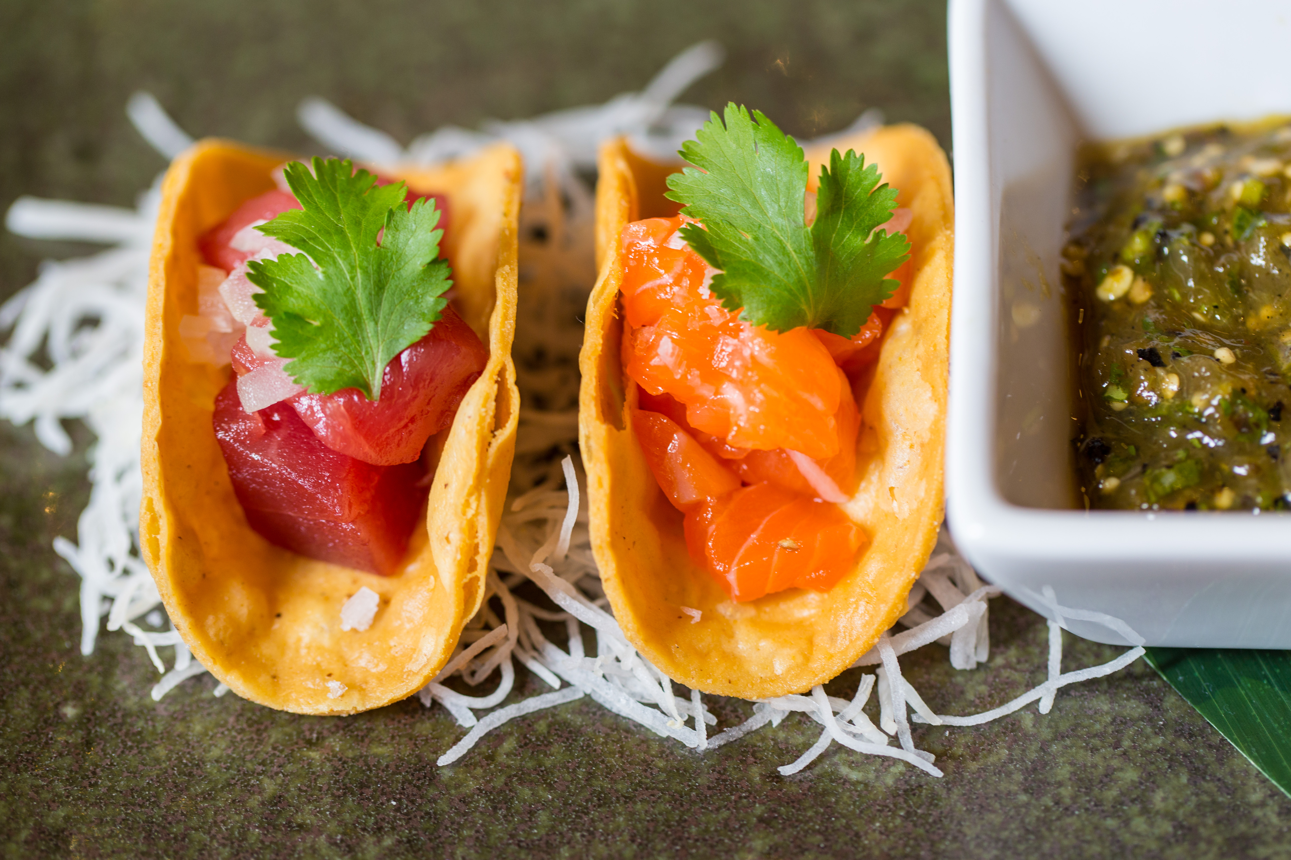 Matsuhisa Paris - Nobu Tacos ©Henry Hargreaves