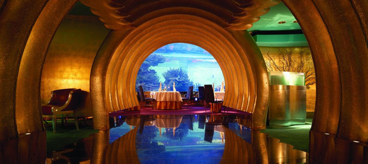 Most beautiful hotel restaurants, Burj Al Arab,