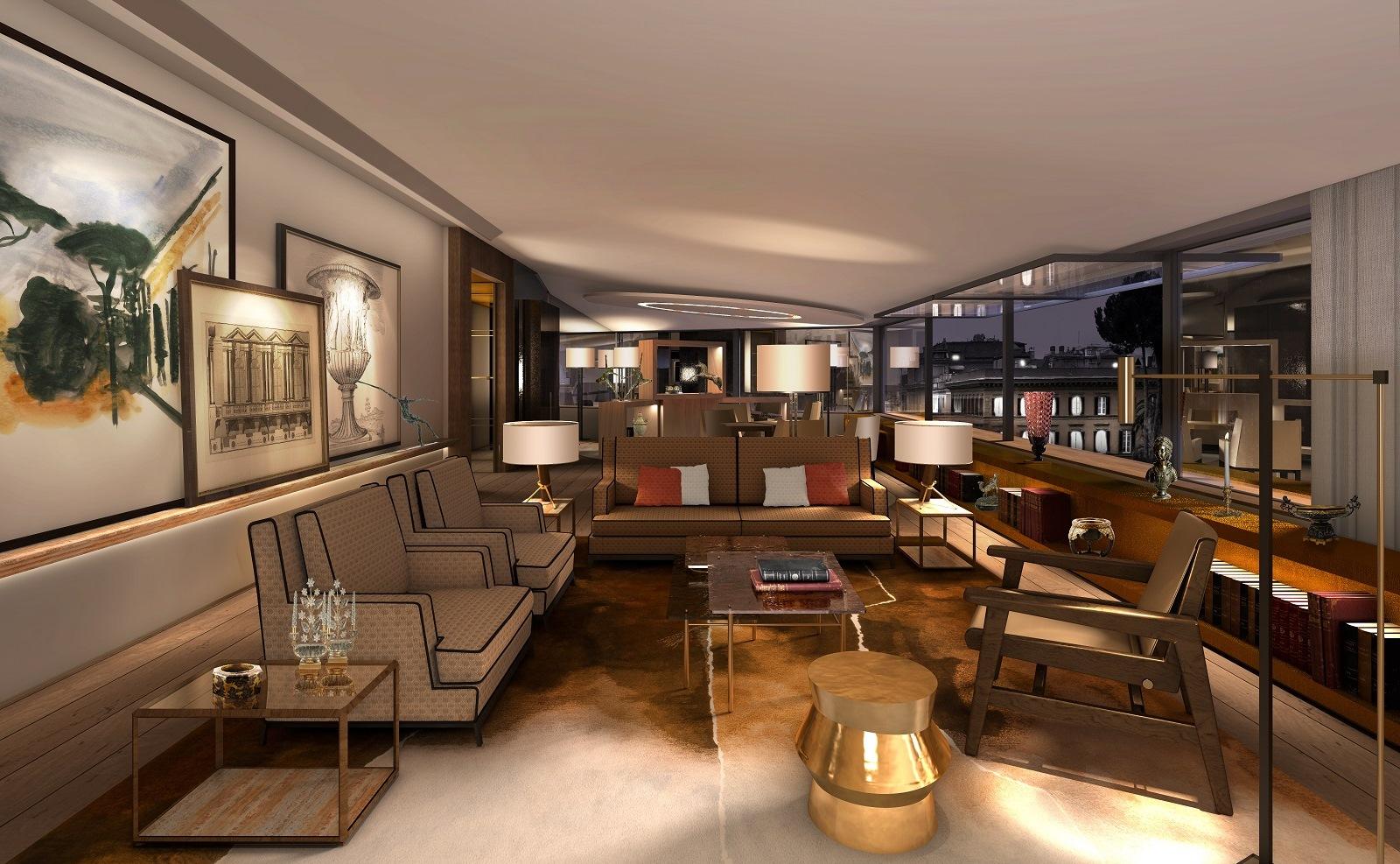 Hotel Eden de Rome - Penthouse Suite, Living Area