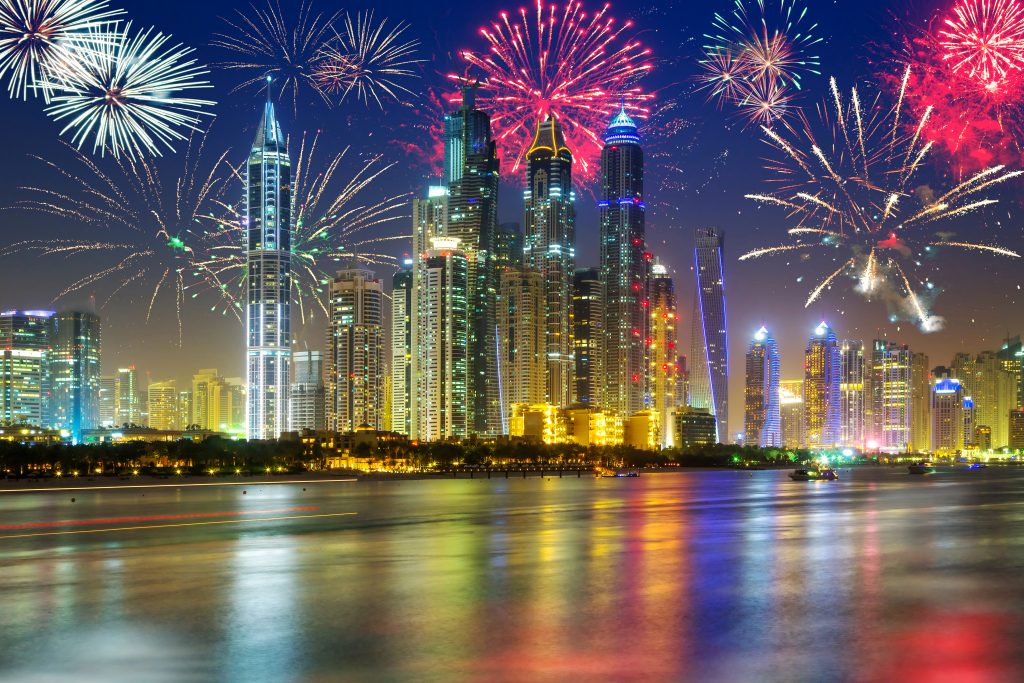 New Year Fireworks in Dubai