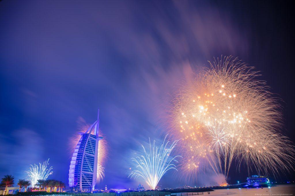 New Year Fireworks at the Burj Al Arab