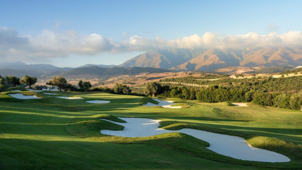 The golf course at the Finca Cortesin, Costa del Sol, Spain